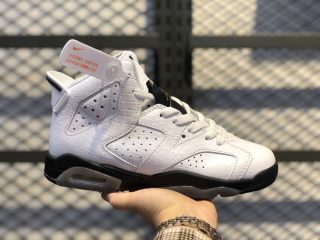 Air Jordan 6 GS White/Black-Alligator Best Sell 384665-110