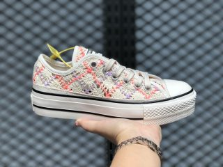 Converse Boho Crochet Platform Chuck Taylor All Star Low Top 568278C