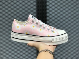 Converse Daisies Platform Chuck Taylor All Star Low Top Pink/White/Black 568934C