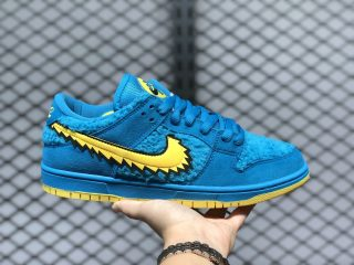 Grateful Dead x Nike SB Dunk Low Blue/Yellow CJ5378-400