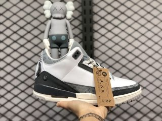 KAWS x Air Jordan 3 Fresh Water White/Light Grey For Sale