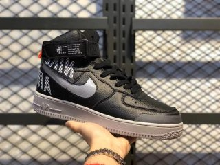 Nike Air Force 1 High Black/Cool Grey-Total Orange CQ0449-001