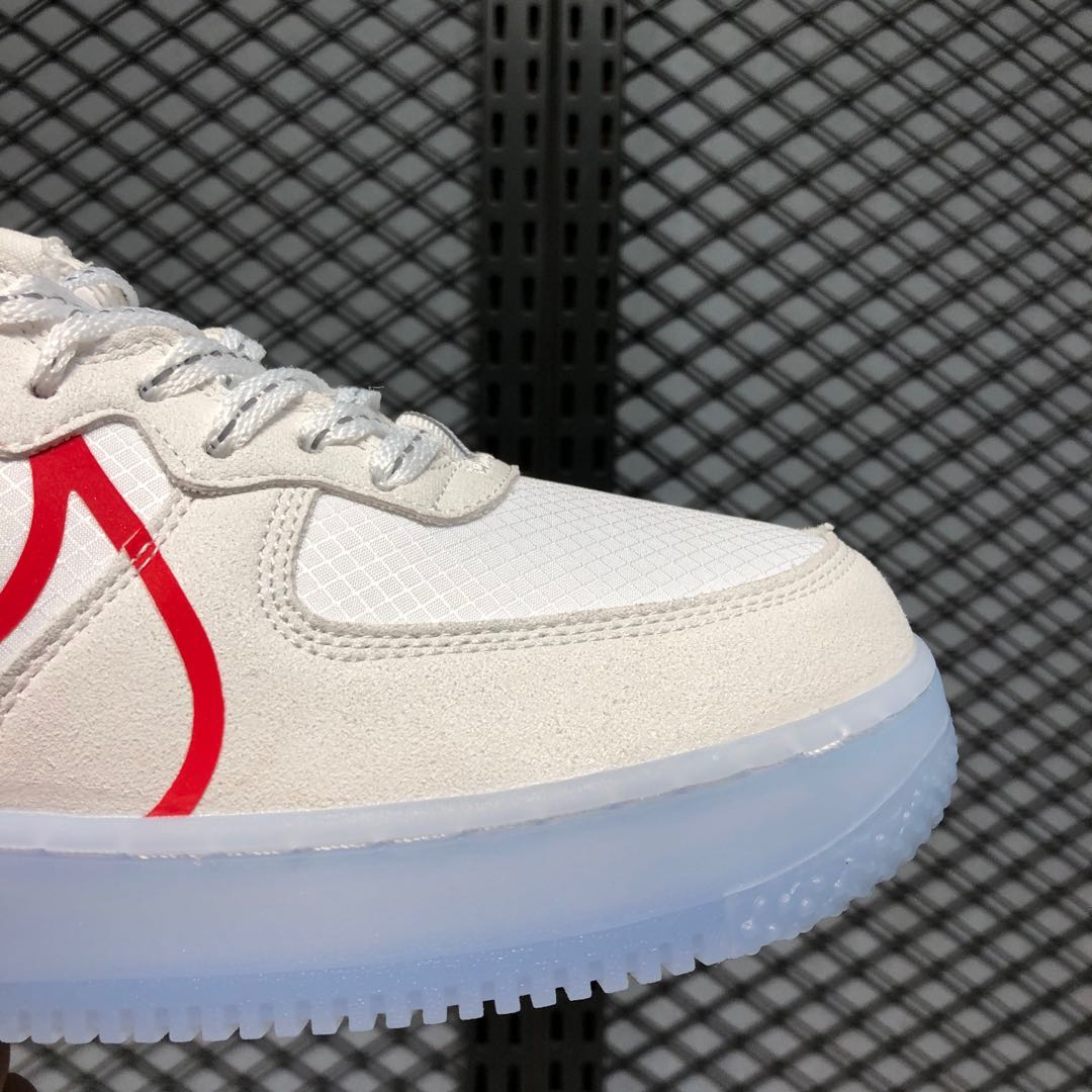 dramático Viaje Contribución  Nike Air Force 1 React Light Bone/University Red Online Buy | Sneakers Big  Sale
