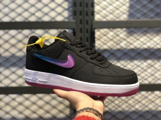 Nike Air Force 1'07 Premium Black/Active Fuchsia-Blue Lagoon-White AT4143-001