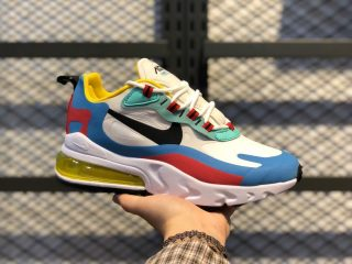 Nike Air Max 270 React AT6174-002 Phantom/Black-Light Blue-University Red
