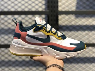 Nike Air Max 270 React Summit White/Midnight Turquoise-Yellow CT1264-103