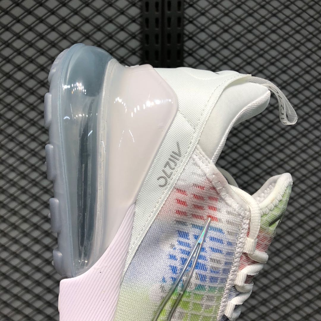Latest Nike Air Max 270 White Multi Color For Sale Ah8050 200 Sneakers Big Sale