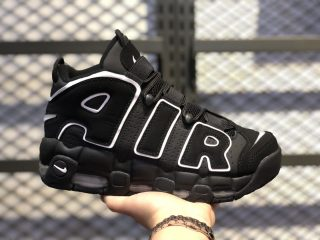 Nike Air More Uptempo Black/White New Sale 414962-002