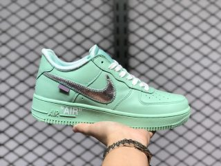 Nike Air Force 1 x Off-White Green/Silver For Sale CI1173-300