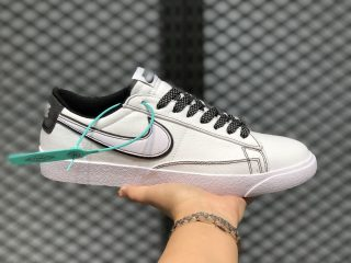 Nike Blazer Low LX White Blanc Noir Refective Silver AV9371-810