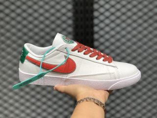 Nike Blazer Low LX White Orange Lifestyle Shoes For Sale AV9371-619