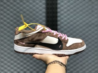 Nike Wmns SB Dunk CD4487-001 White/Dark Mocha-Black-Pink For Sale