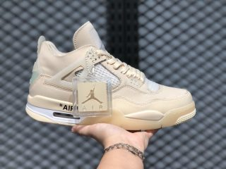 Off-White x Air Jordan 4 SP WMNS Sail/Muslin-White-Black CV9388-100