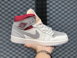 "SNS x Air Jordan 1 Mid ""20th Anniversary"" Sail/Gym Red CT3443-100"