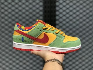 Sour Patch Kids x Nike SB Dunk Vivid Yellow/Neon Green/Vivid Red CU1727-600