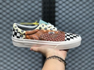 VANS Tiger Patchwork Era Black/True White Lifestyle Shoes Hot Sale