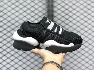 2020 Latest Adidas Y-3 Ren Black/White Sneakers On Sale AQ2930