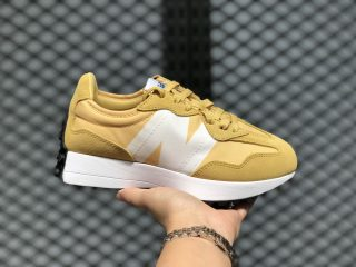2020 Newest New Balance 327 Yellow/White Jogging Shoes MS327CPF