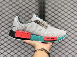 Adidas NMD R1 Grey/Teal-Signal Coral Running Shoes FX4353