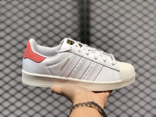 Adidas Originals Superstar Wmns White/Rose Red For Sale FW8354