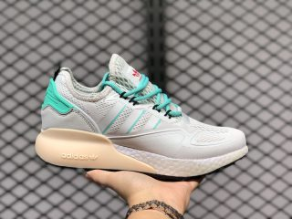 Adidas Originals ZX 2K Boost Crystal White/Grey One-Hi-Res Green FX4172