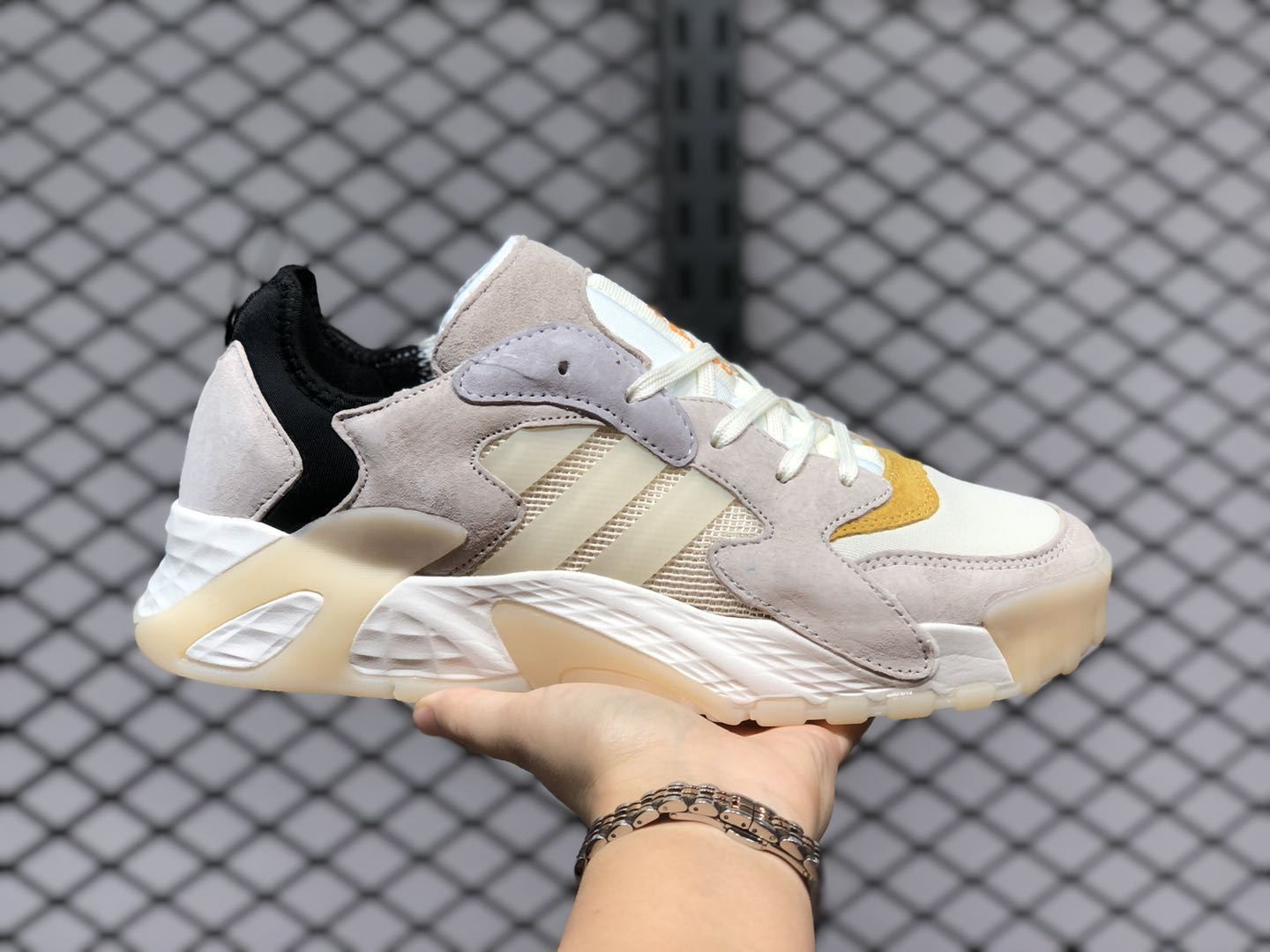 Adidas Streetball Off White/Sand-Core Black Sneakers For Sale FW1215