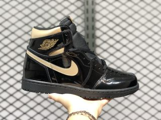 Air Jordan 1 High OG Black/Black-Metallic Gold On Sale 555088-032