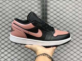Air Jordan 1 Low Black/Crimson Tint Training Shoes New Sale 553558-034