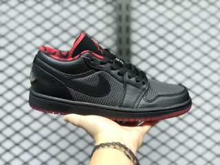 Air Jordan 1 Low Black/Metallic Silver-Varsity Red For Buy 309192-001