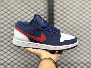 "Air Jordan 1 Low ""USA"" CZ8454-400 Navy/White/University Red Hot Sale"