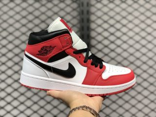 "Air Jordan 1 Mid ""Chicago"" White/Gym Red-Black 554724-173"