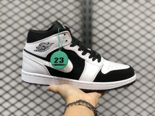"Air Jordan 1 Mid ""Tuxedo"" White/Black-White For Sale 554724-113"
