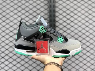 Air Jordan 4 Retro Green Glow/Wolf Grey-Core Black 308497-033