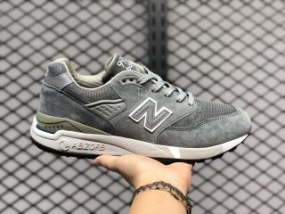 Buy New Balance 998 All Grey Suede Mesh Upper Sneakers M998CH