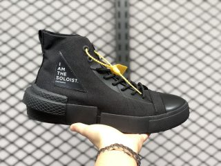 Converse x The Soloist Black High Canvas Shoes For Sale 168213C
