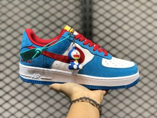 Doraemon x Nike Air Force 1 Low White/Bright Red-Bright Blue DK1288-600