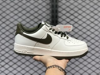 Hot Selling Nike Air Force 1'07 White/Army Green AQ3778-996