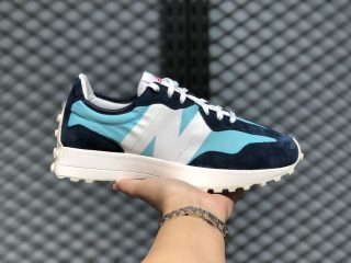 New Balance 327 GS Light Blue/White-Wax Blue Best Sell WS327CPB