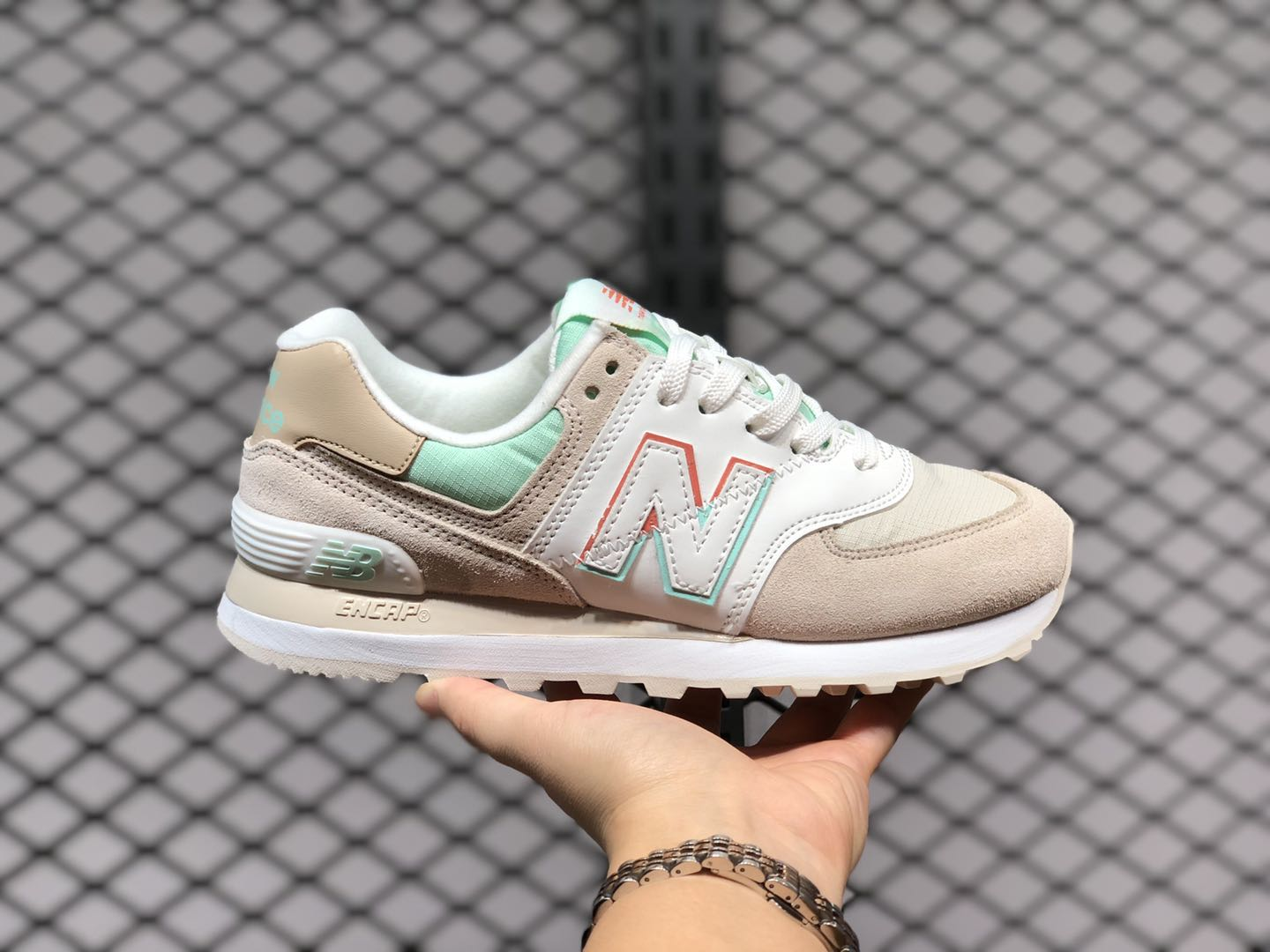 New Balance Moonbeam With Neo Mint Suede/Textile ML574SCE ...