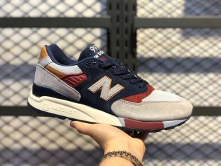 New Balance Grey/Navy-Bergundy Men's Sneakers For Sale M998CSU