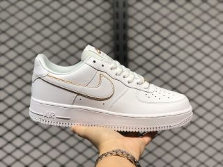 New Sale Nike Air Force 1 Low Essnetial White Metallic Gold AO2132-102