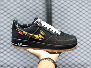 Nike Air Force 1 Cowboy Black/Camo-White-Red For Sale 573488-076