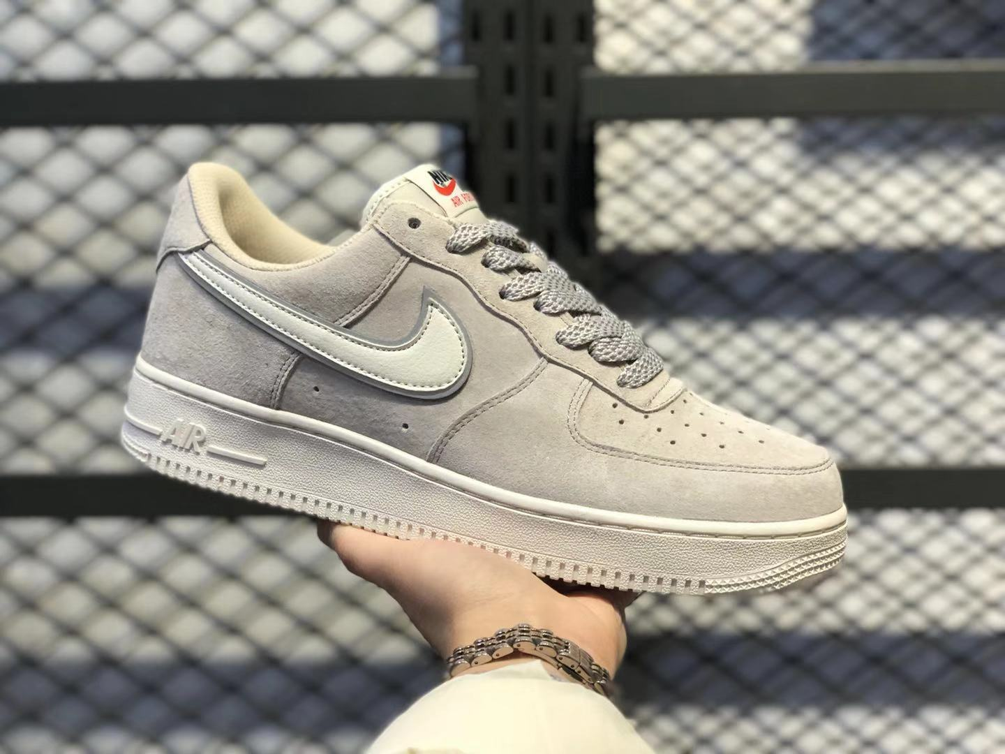 New Sale Nike Air Force 1'07 Low Beige/Grey Shoes AQ8741-101 ...