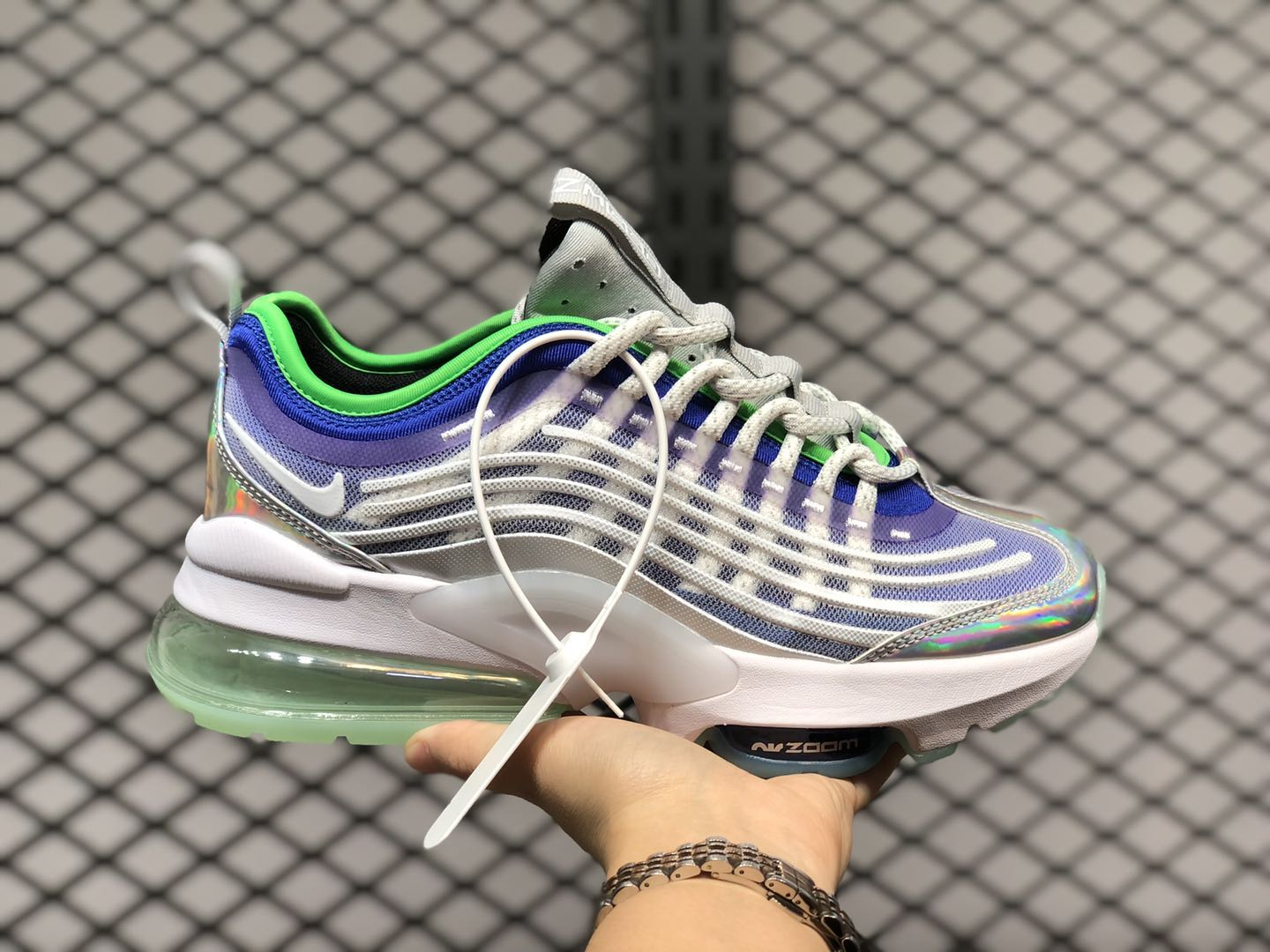 Nike Air Max Zoom 950 Af1-TYpe White/Blue-Green For Sale ...