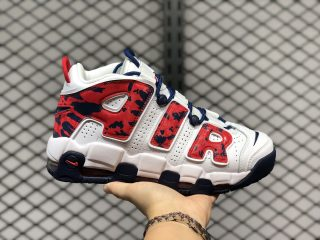 Nike Air More Uptempo GS White/University Red/Navy CZ7885-100