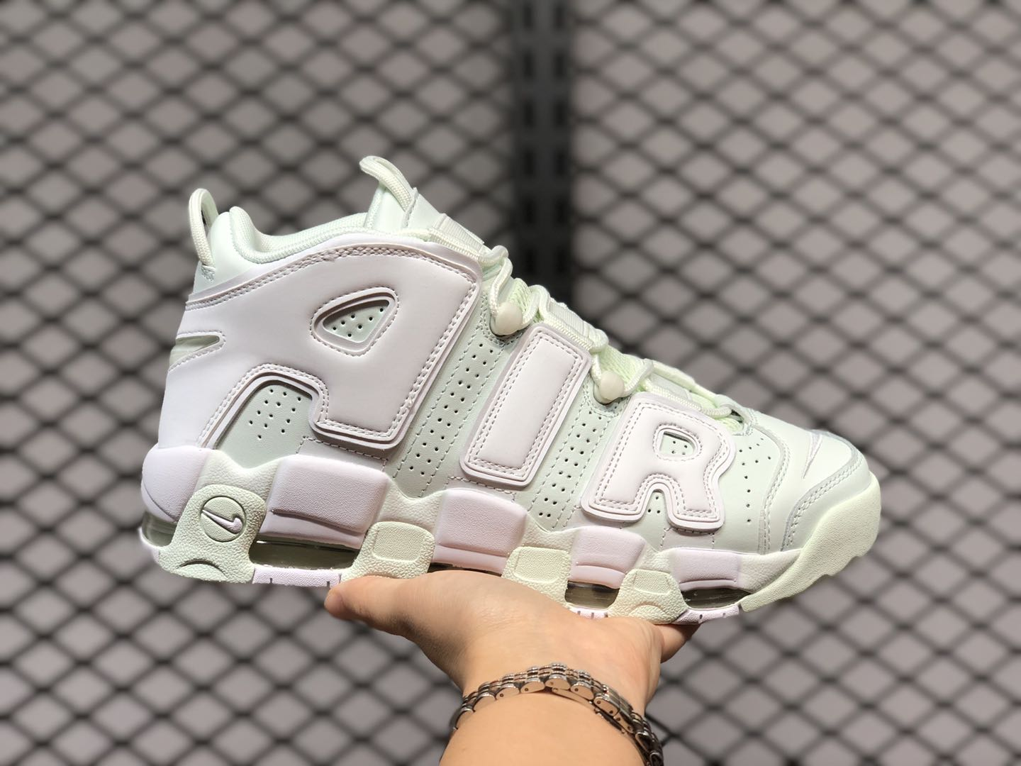 Sale Nike Air More Uptempo Barely Green
