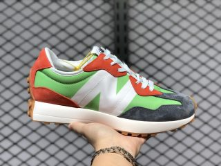 Top Quality New Balance 327 Orange/Green-White-Grey MS327SPF