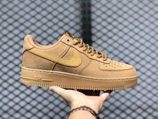 2020 Latest Nike Air Force 1 Flax/Gum Light Brown/Black/Wheat CJ9179-200