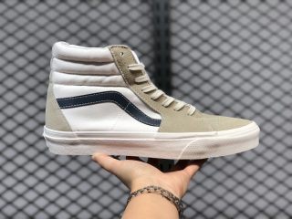 2020 Latest Vans SK8-Hi White/Navy Skate Shoes