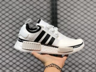 Adidas NMD R1 Cloud White/Core Black Running Shoes On Sale FV8727